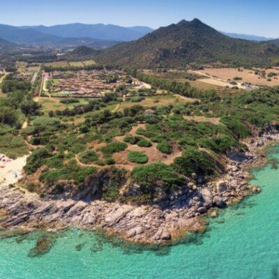 Cala Sinzias Beach Near Costa Rei On Sardinia Island, Sardinia, Italy